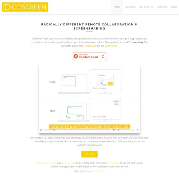 CoScreen - Remote Collaboration Reimagined