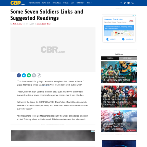 Some Seven Soldiers Links and Suggested Readings