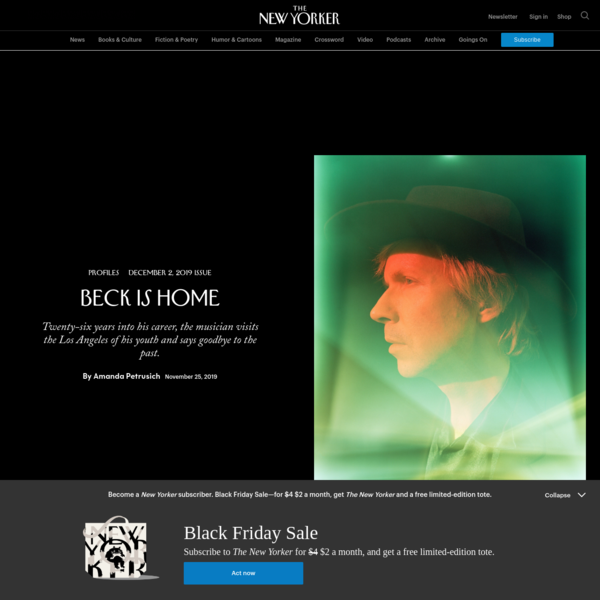 Beck Is Home | The New Yorker
