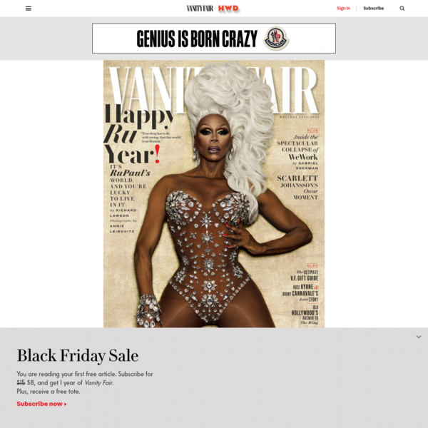 Cover Story: RuPaul on Drag Race's Future, His Next Great Reinvention, and Why True Drag Will Never Be Mainstream | Vanity Fair