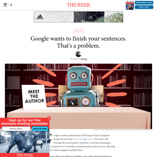 Google wants to finish your sentences. That's a problem.