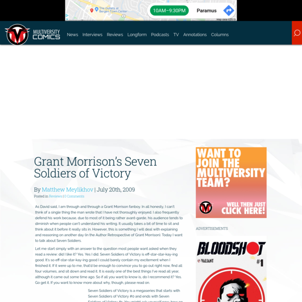 Grant Morrison's Seven Soldiers of Victory