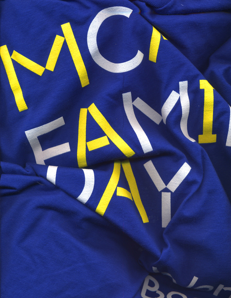 MCA Family Day<br>T-shirt<br>2016<br>Screen print