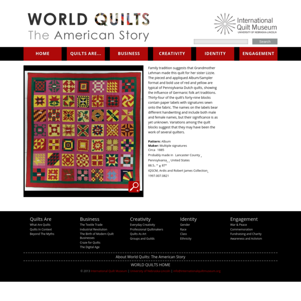 1997.007.0821 | World Quilts: The American Story