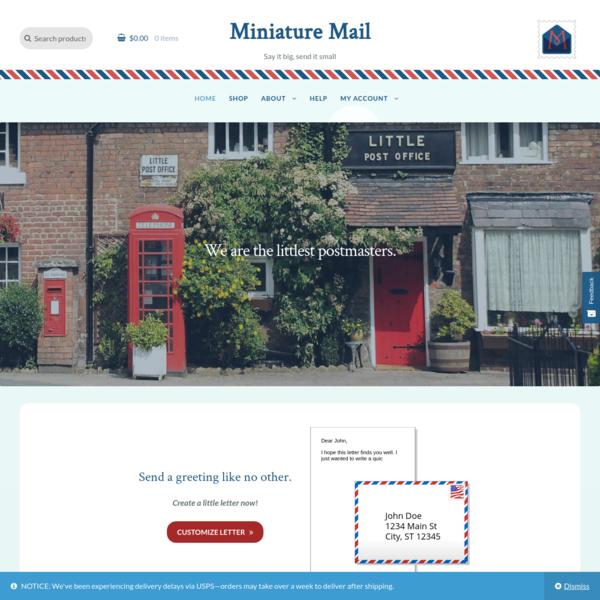 Miniature Mail - Say it big, send it small