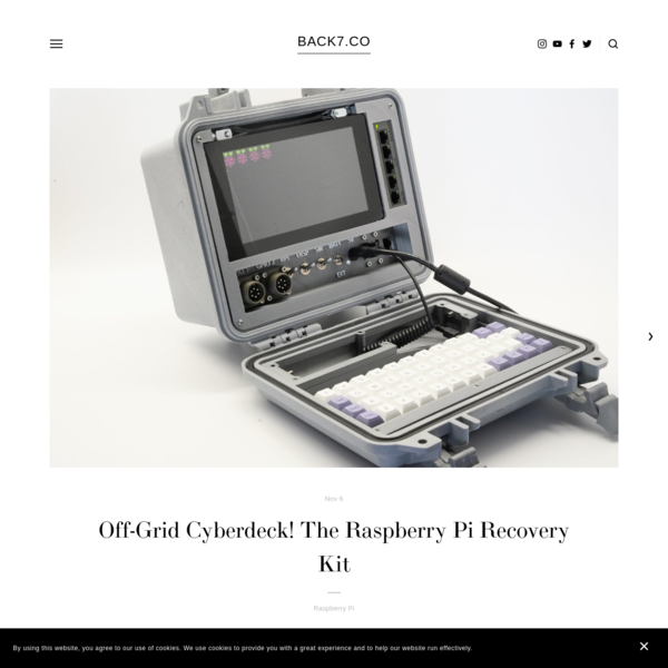 Off-Grid Cyberdeck! The Raspberry Pi Recovery Kit - BACK7.CO