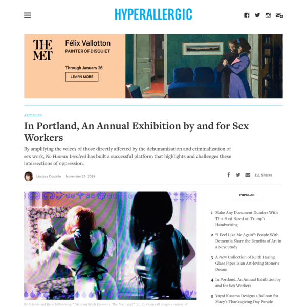 In Portland, An Annual Exhibition by and for Sex Workers