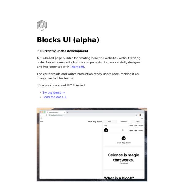 Blocks UI