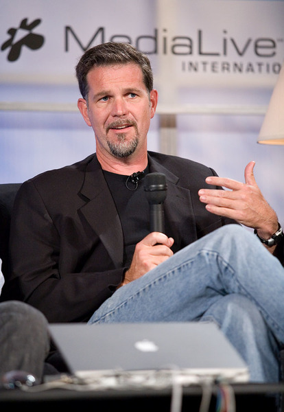 Jacket and jeans - Reed Hastings