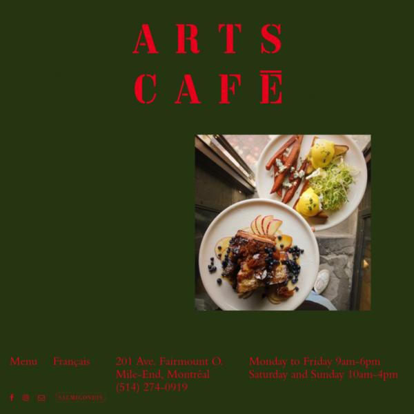 Home - Arts Café Montréal
