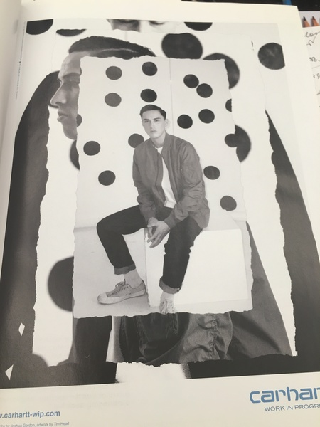 This was the ad from the Dazed magazine. And this is very interesting image visually like torn edged collaged photograph. The monochromic gives you the feeling of being young and serious and thoughtful
