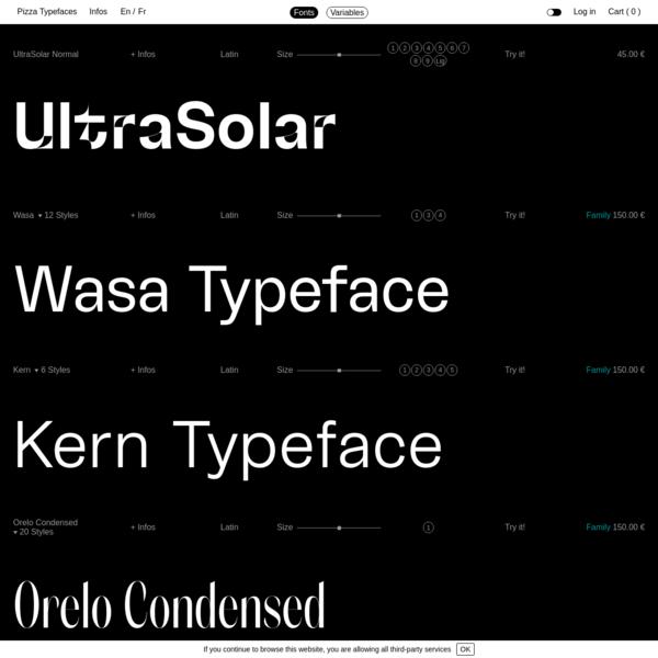 Fonts · Pizza Typefaces