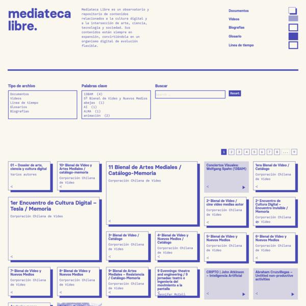 mediateca libre | arte, ciencia, tecnología y cultura digital