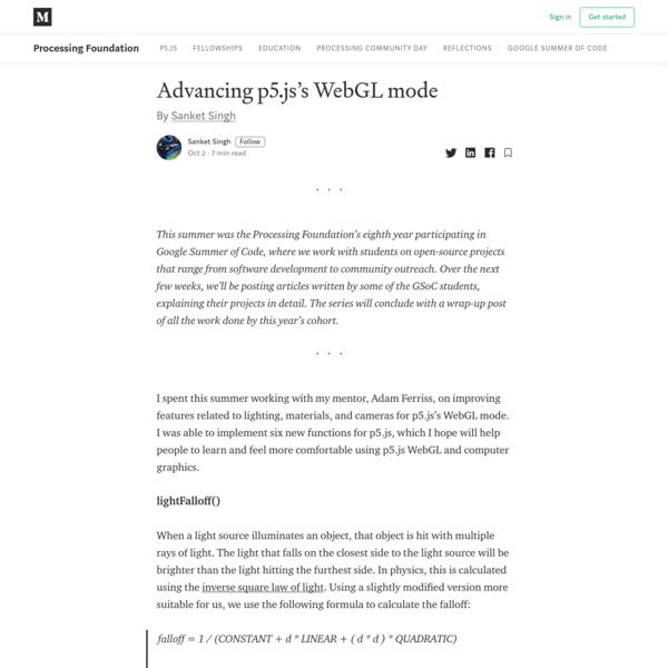 Advancing p5.js's WebGL mode