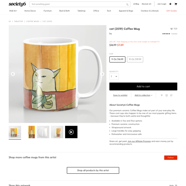 cat (2019) Coffee Mug by meowza | Society6