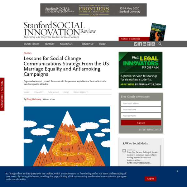 Lessons for Social Change Communications Strategy From the US Marriage Equality and Antismoking Campaigns (SSIR)
