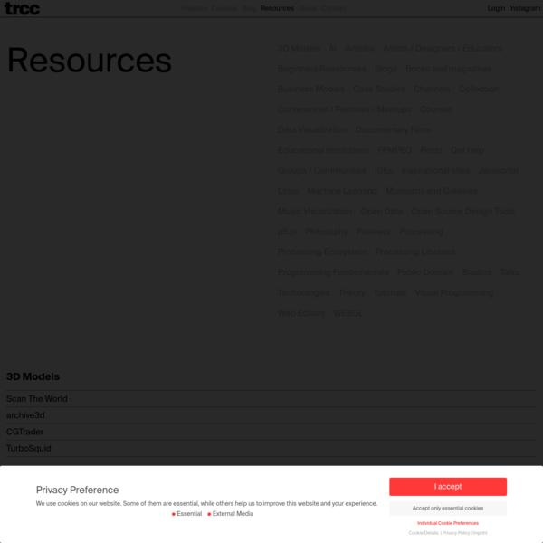 Resources Archive * tim rodenbröker creative coding