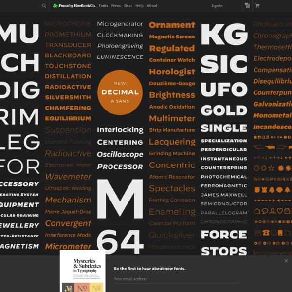 Fonts by Hoefler&Co.
