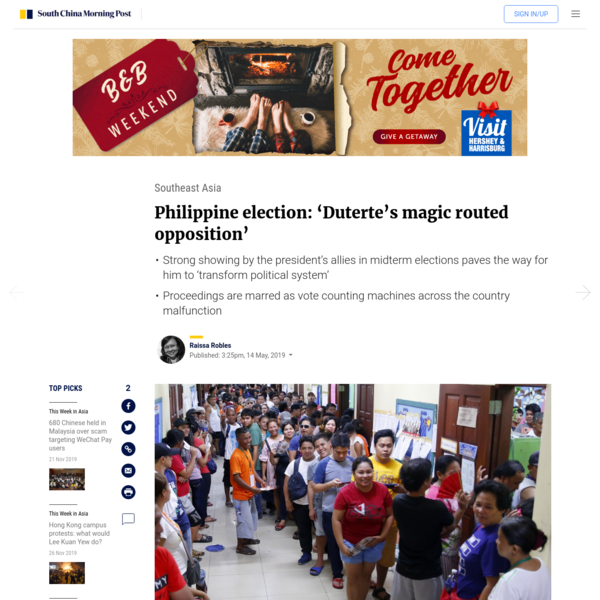 Philippine election: 'Duterte's magic routed opposition'