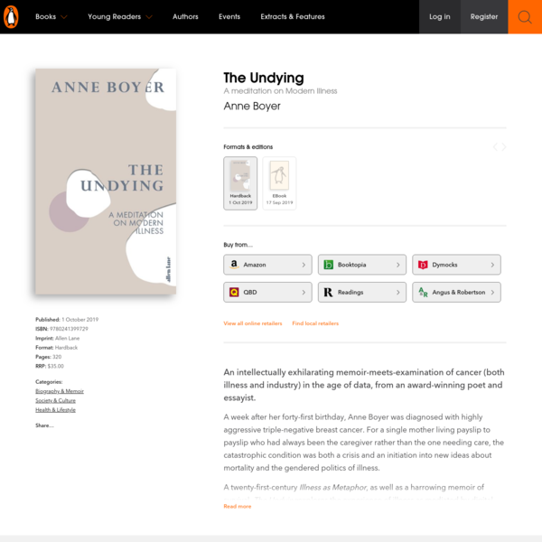 The Undying by Anne Boyer