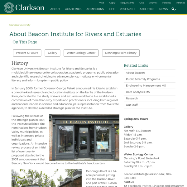 About Beacon Institute for Rivers and Estuaries