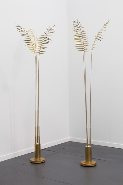 "Elaine Cameron-Weir, ""hotel lobby on the island of women I"" (left) and ""hotel lobby on the island of women II"" (right), 2013"
