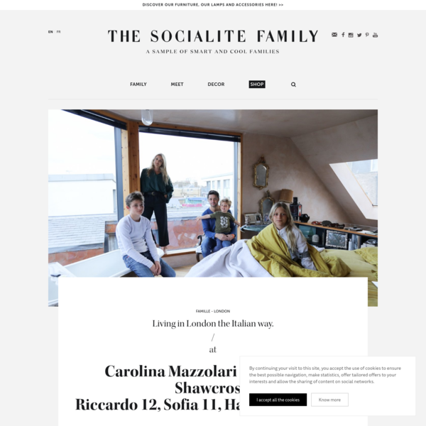 Carolina Mazzolari and Conrad Shawcross, Riccardo 12, Sofia 11, Hartley 4 years old - The Socialite Family