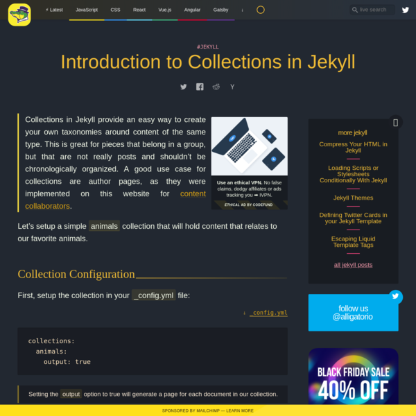Introduction to Collections in Jekyll