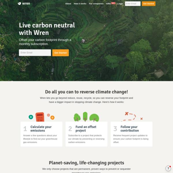 Wren - Offset your carbon footprint