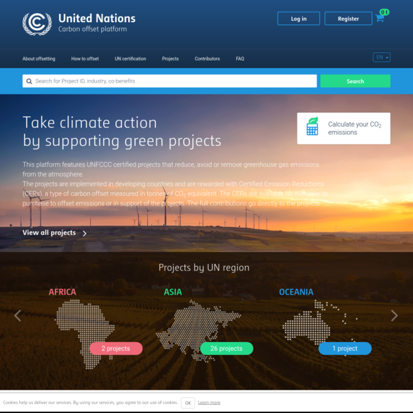 United Nations online platform for voluntary cancellation of certified emission reductions (CERs)