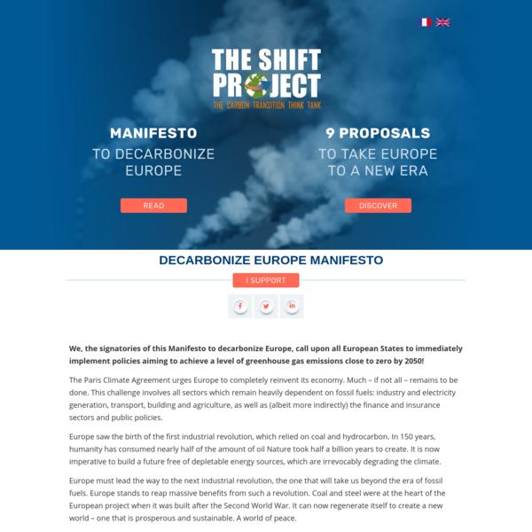 Decarbonize Europe Manifesto