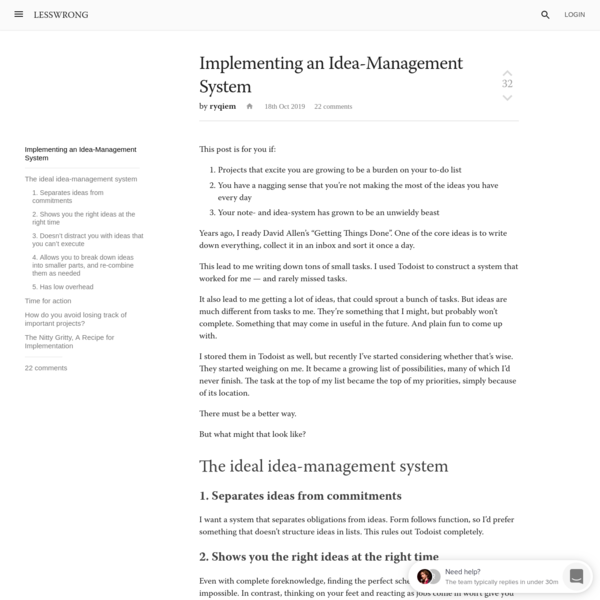 Implementing an Idea-Management System