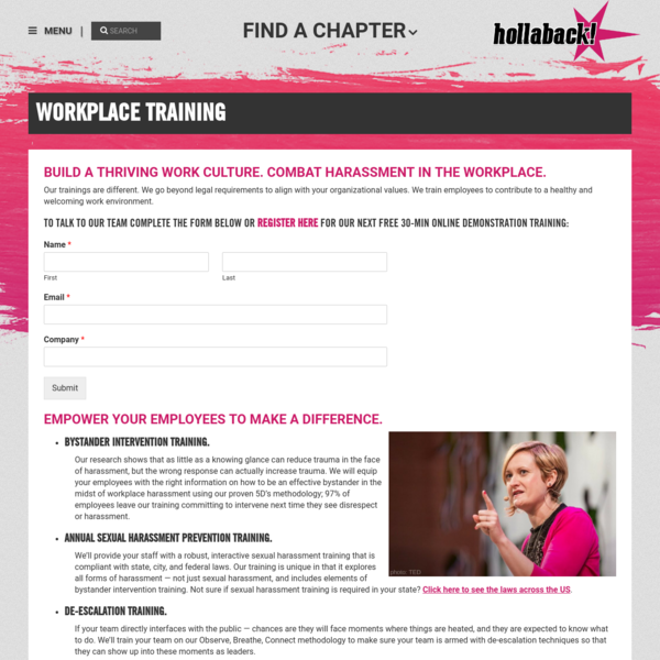 Workplace Training | Hollaback! Together We Have the Power to End Harassment