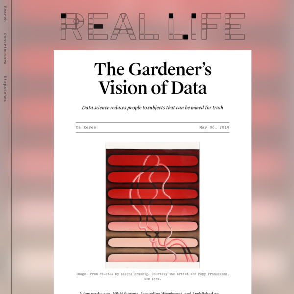 The Gardener's Vision of Data - Real Life
