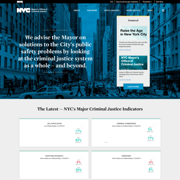 We advise the Mayor on solutions to the City's public safety problems by looking at the criminal justice system as a whole -...