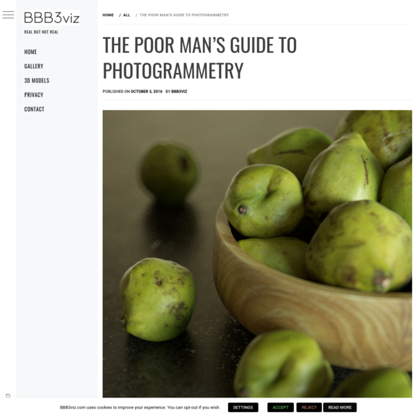 The poor man's guide to photogrammetry
