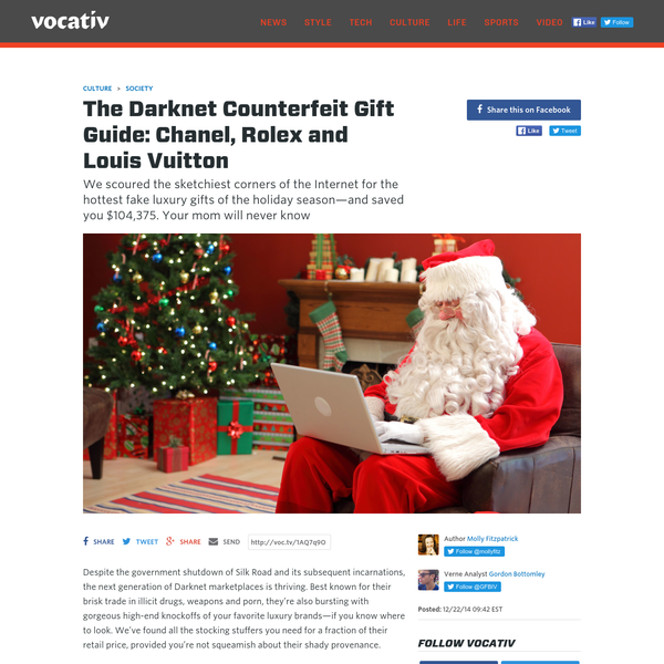 Beets by Dray, Louie Veton Bags: The Darknet Counterfeit Gift Guide