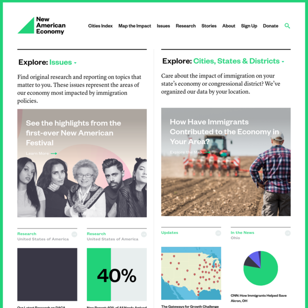 New American Economy - Documenting the impact of immigrants on our nation's economy.