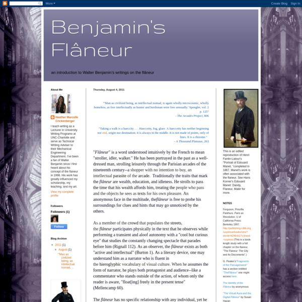 Benjamin's Flâneur