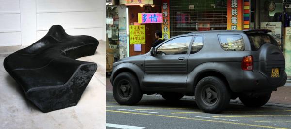 Moraine Sofa Zaha Hadid / Matte black Isuzu Vehicross