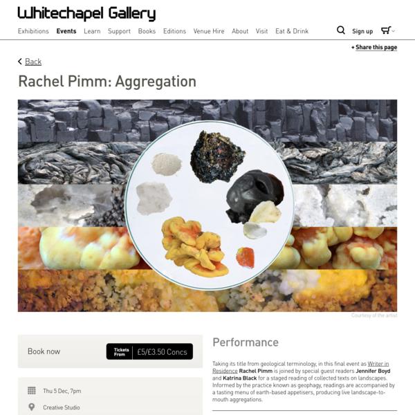 Rachel Pimm: Aggregation - Whitechapel Gallery