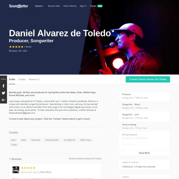 Daniel Alvarez de Toledo on SoundBetter