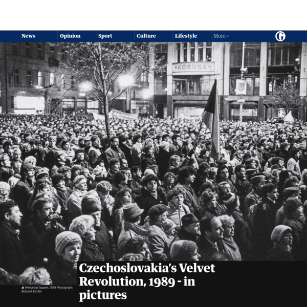 Czechoslovakia's Velvet Revolution, 1989 - in pictures