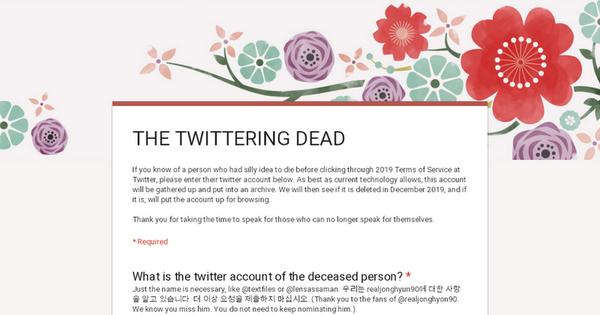 THE TWITTERING DEAD