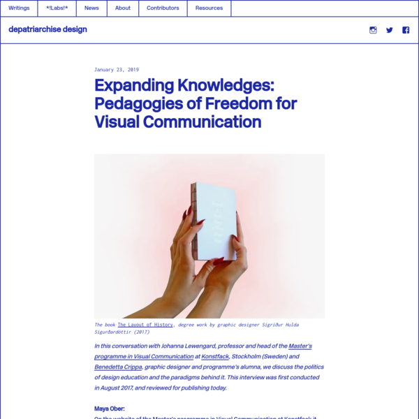 Expanding Knowledges: Pedagogies of Freedom for Visual Communication