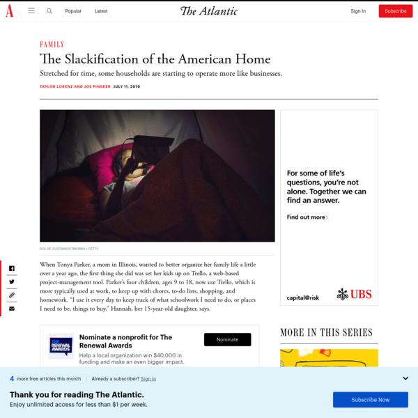 The Families Who Use Slack, Asana, Trello, and Jira - The Atlantic