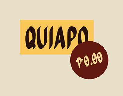 Quiapo Free - Brush Typeface