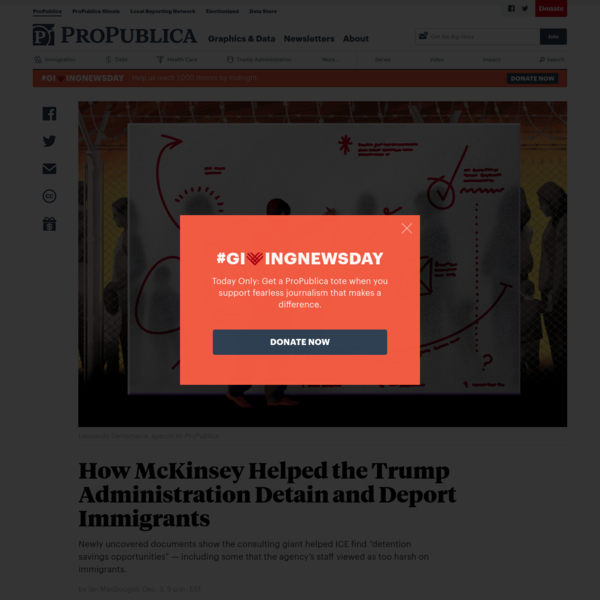 How McKinsey Helped the Trump Administration Detain and Deport Immigrants - ProPublica