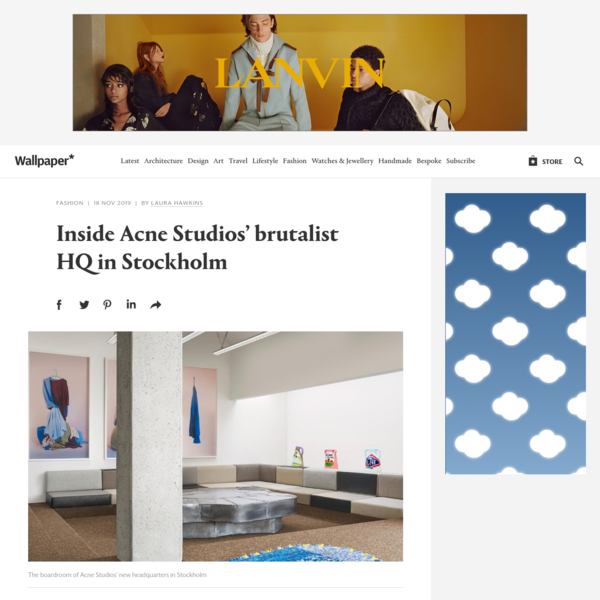 Inside Acne Studios' brutalist HQ in Stockholm