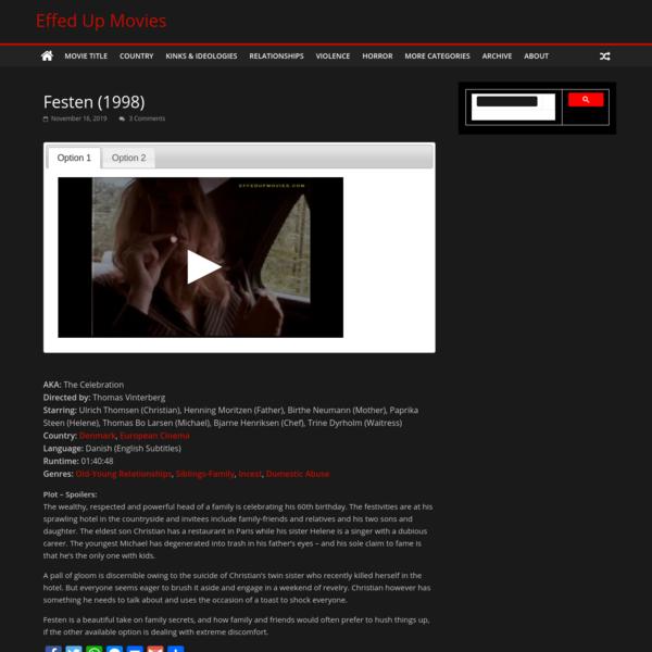 Festen Full Movie Watch Online HD Uncut Eng Subs Vinterberg